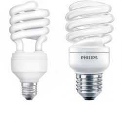 Twisted Compact Fluorescent Lamps