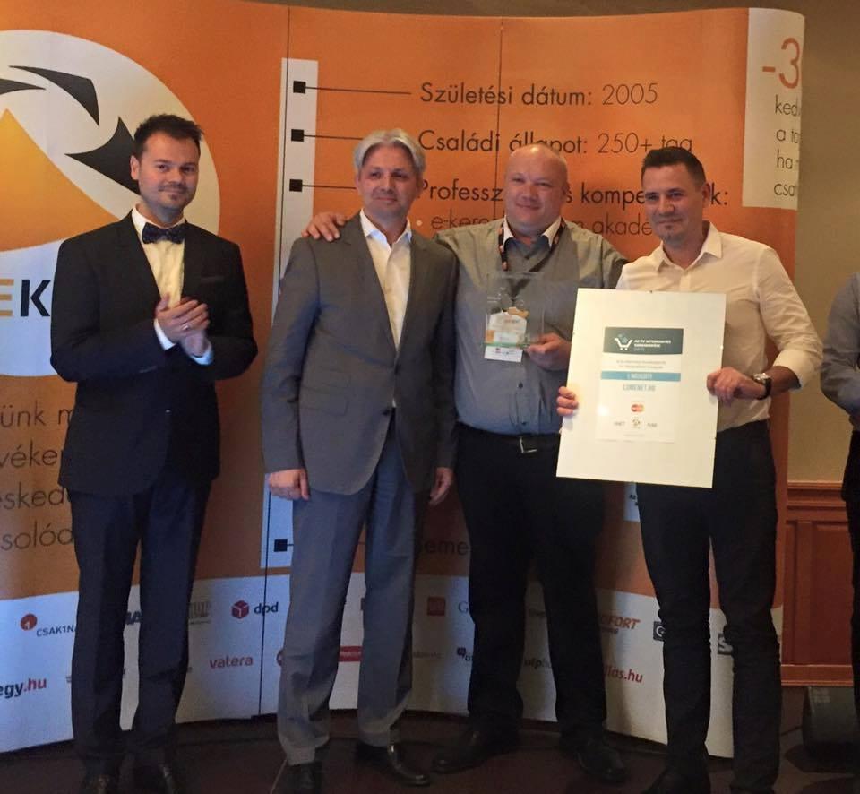 Az Év Internetes Kereskedője 2016 díjátadó