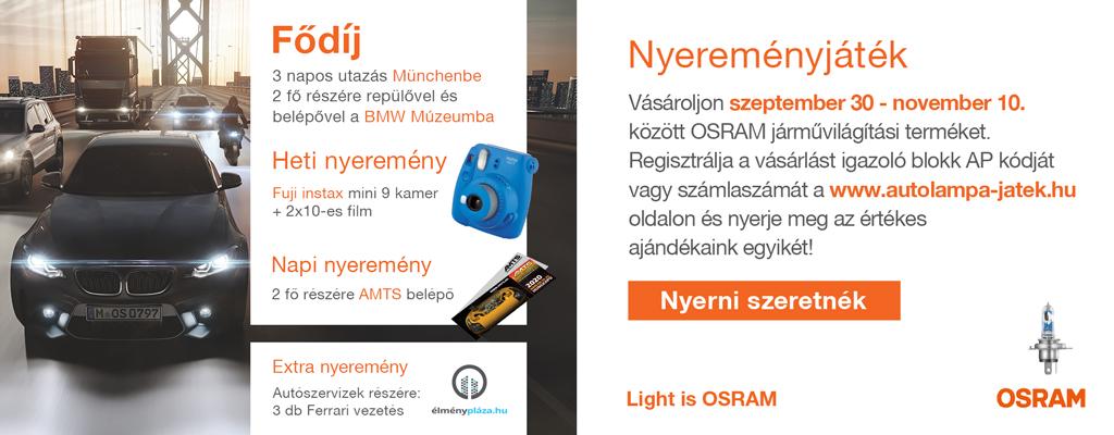 OSRAM - Bajnok az utakon nyereményjáték
