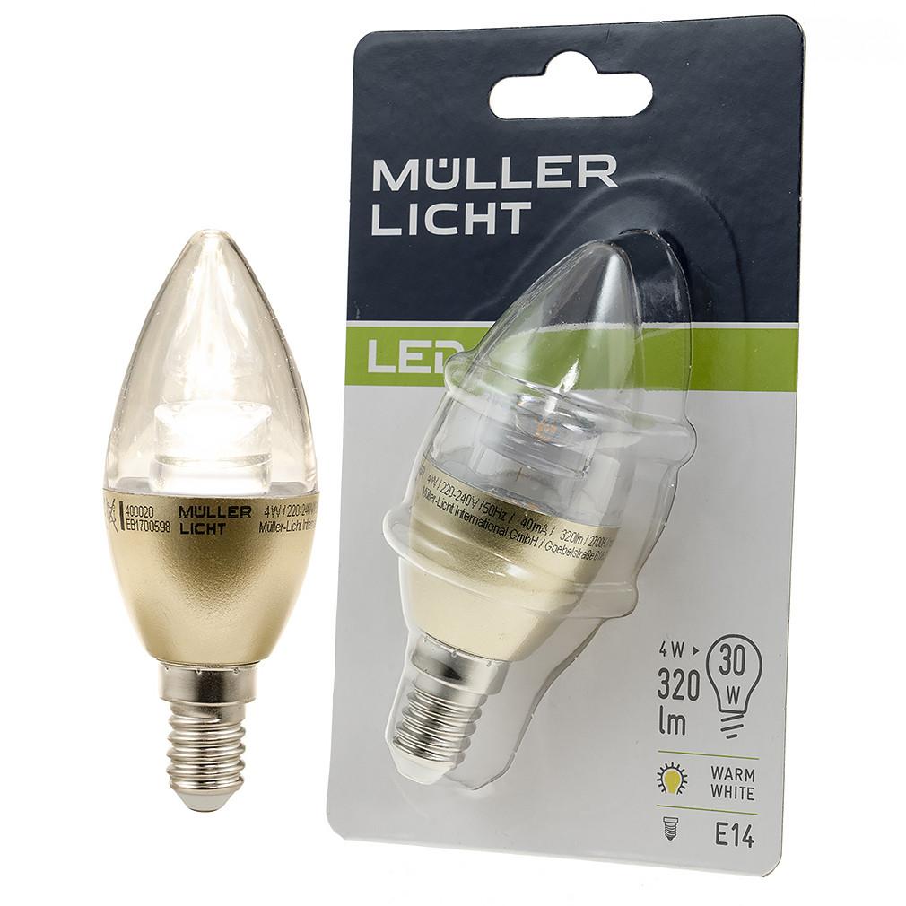 Müller Licht LED 4,5W E14 320lm 180° 2700K GOLD 400020