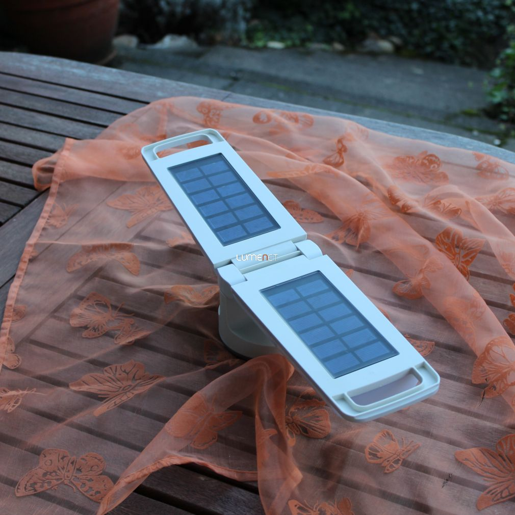 LUTEC P9041 WH DRAGONFLY 1,3W LED IP54 napelemes fehér kültéri lámpa