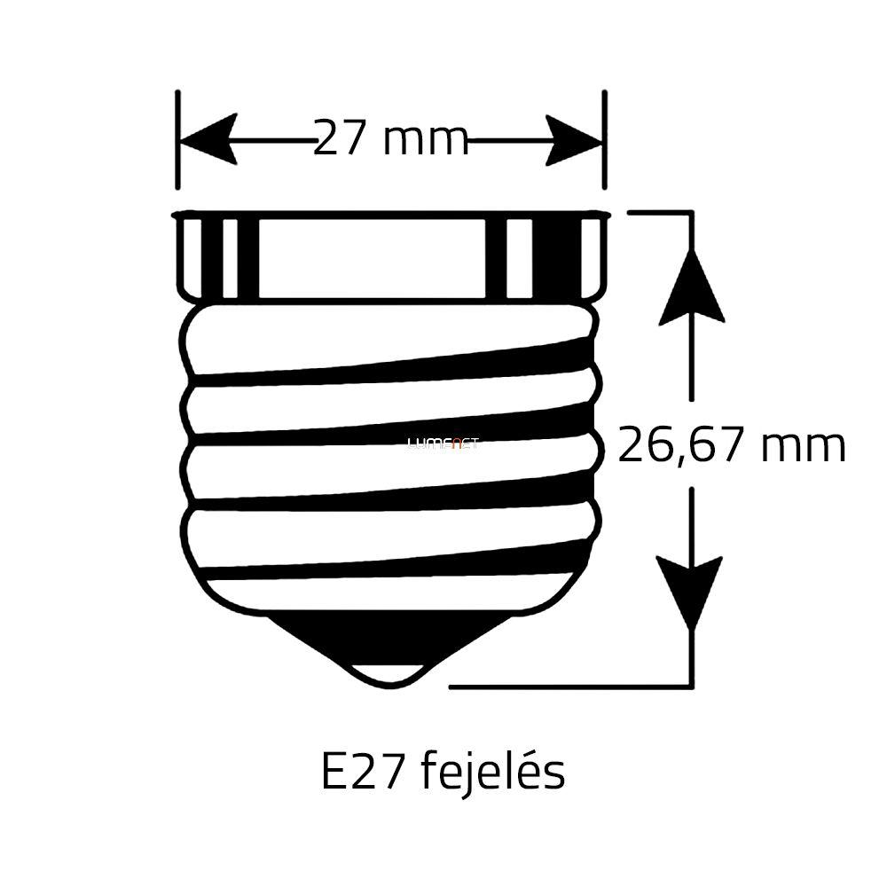 Beghelli ZafiroLED 7W E27 2700K átlátszó üveg 360° 56402 142lm/W!!!