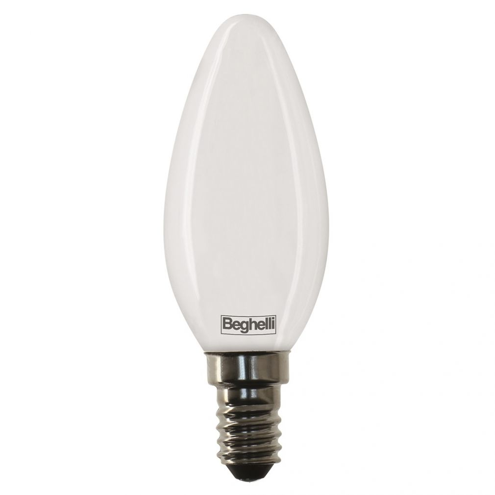 Beghelli ZafiroLED 4W E14 opál LED 56428