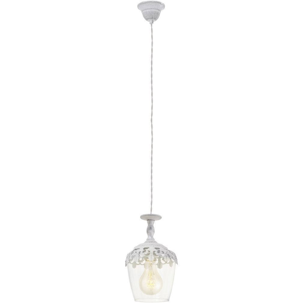 EGLO 49221 függeszték E27 60W fehér-patina/üveg Sudbury