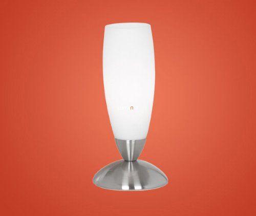 EGLO 82305 Asztali 1x40W E14 mag:22cm matt nikkel/fehér Slim