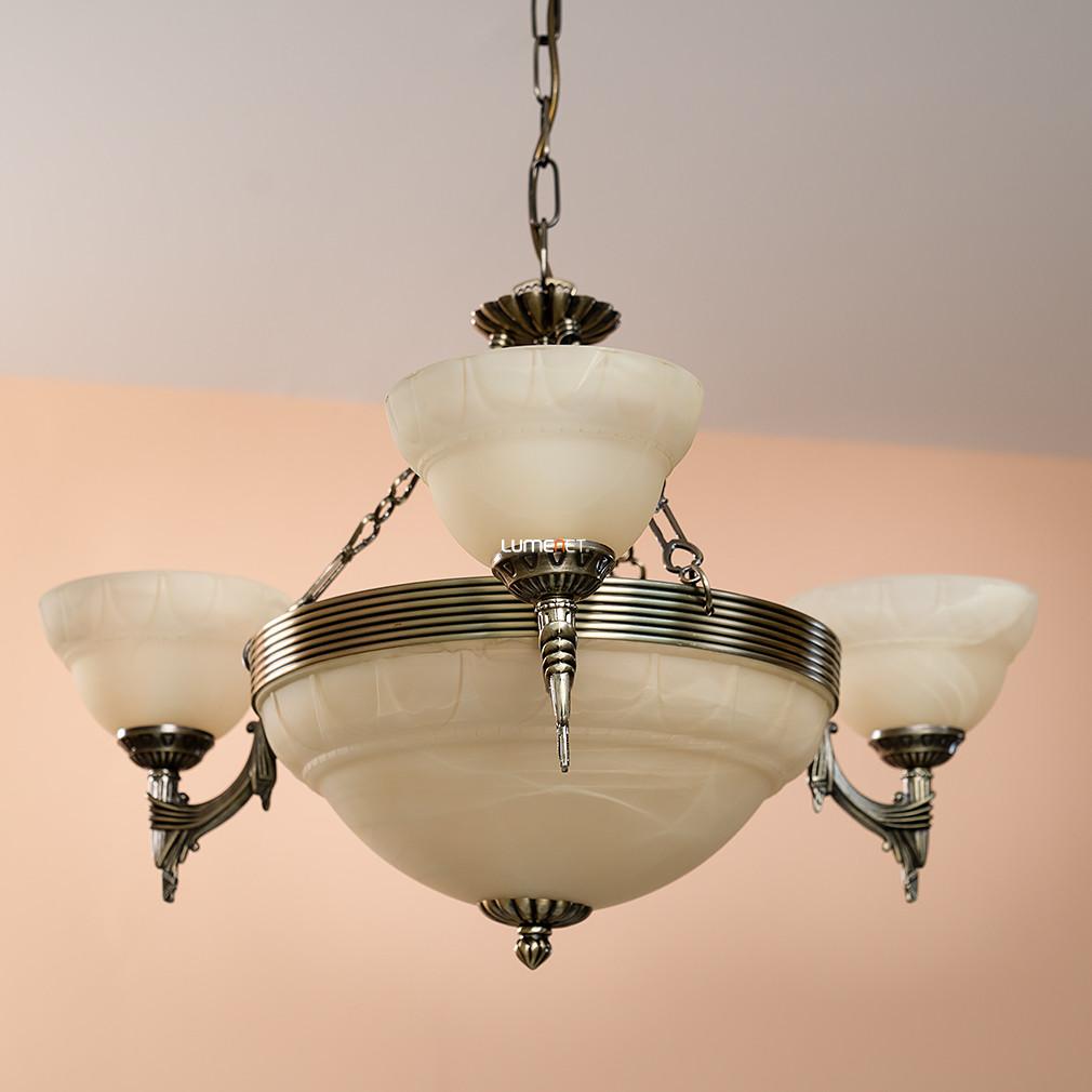 EGLO 85857 Csillár 6xE14 max. 60W bronz/pezsgő Marbella