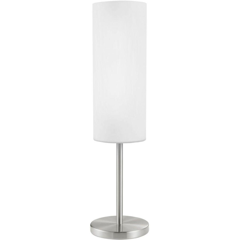 EGLO 85981 Asztali lámpa 1x60W E27 mag:46cm matt nikkel fehér Troy 3