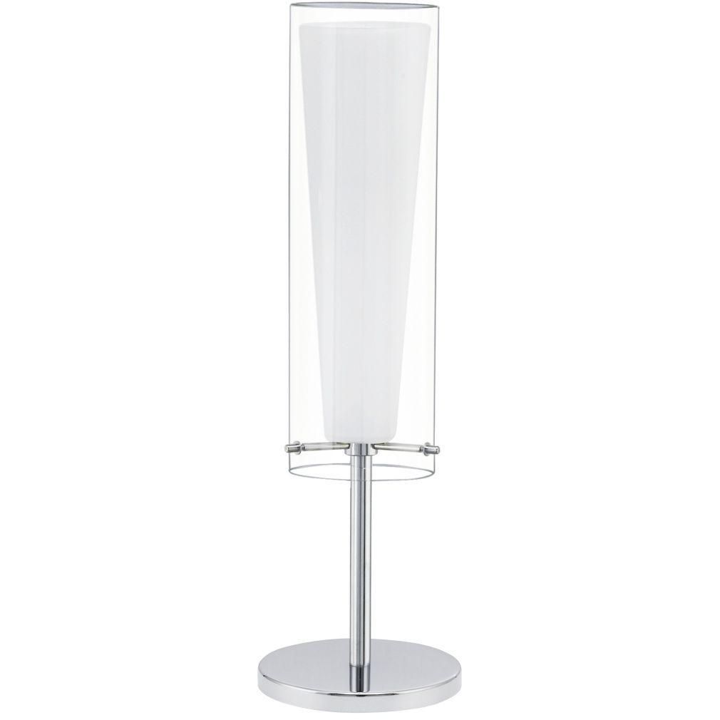 EGLO 89835 Asztali lámpa 1xE27 max. 60W króm/fehér Pinto