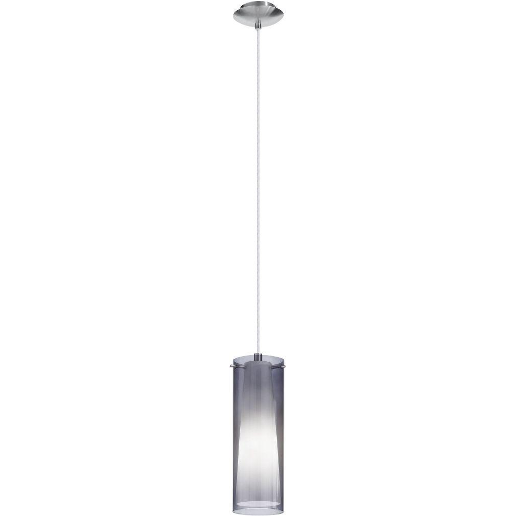 EGLO 90304 Függeszték 1xE27 max. 60W matt nikkel/füstüveg Pinto Nero