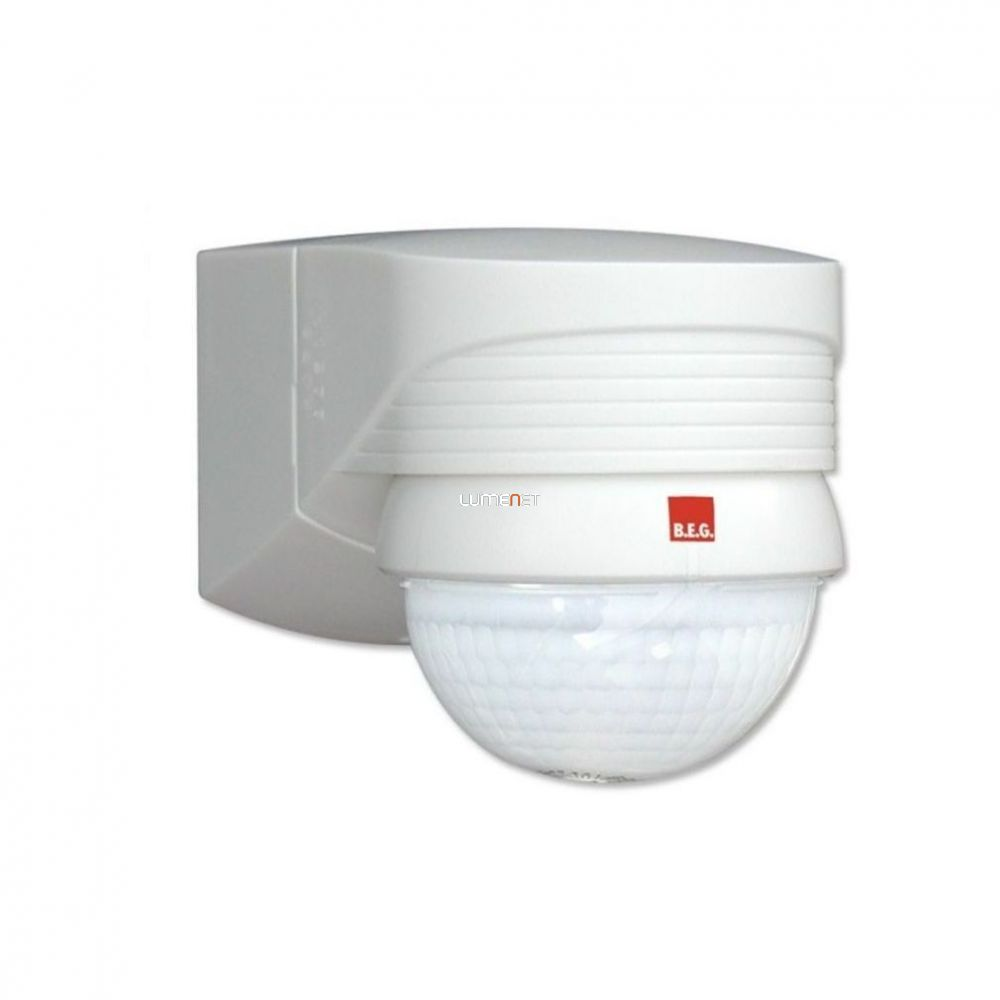 B.E.G. LUXOMAT LC-CLICK-N 280 fali kültéri mozgásérzékelő 280°, fehér, 91008
