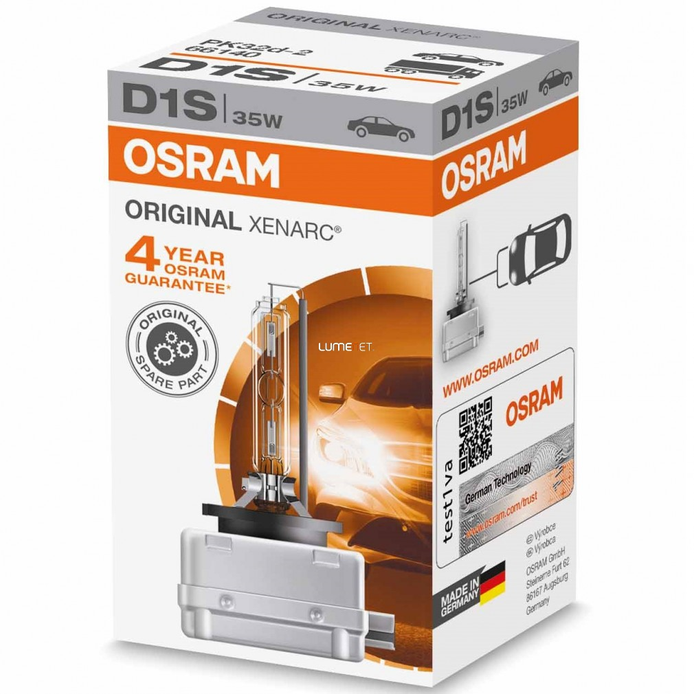 Osram Xenarc Original 66140 D1S xenon lámpa - 4év garancia