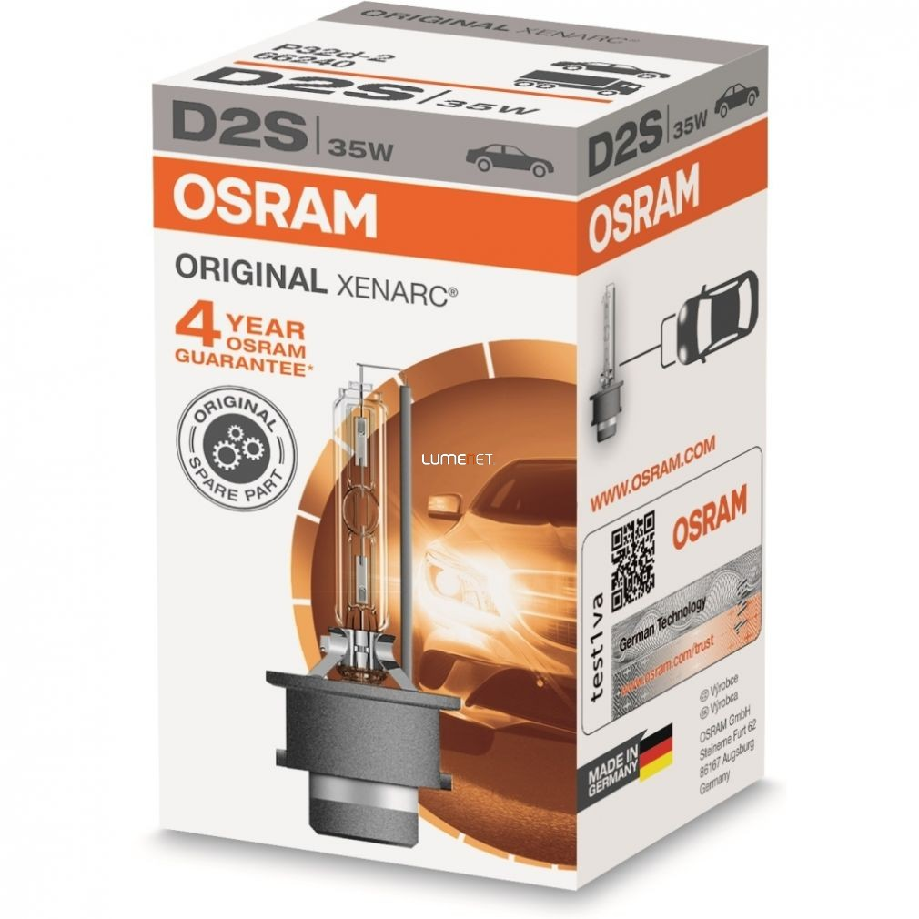 Osram Xenarc Original 66240 D2S xenon lámpa - 4év garancia