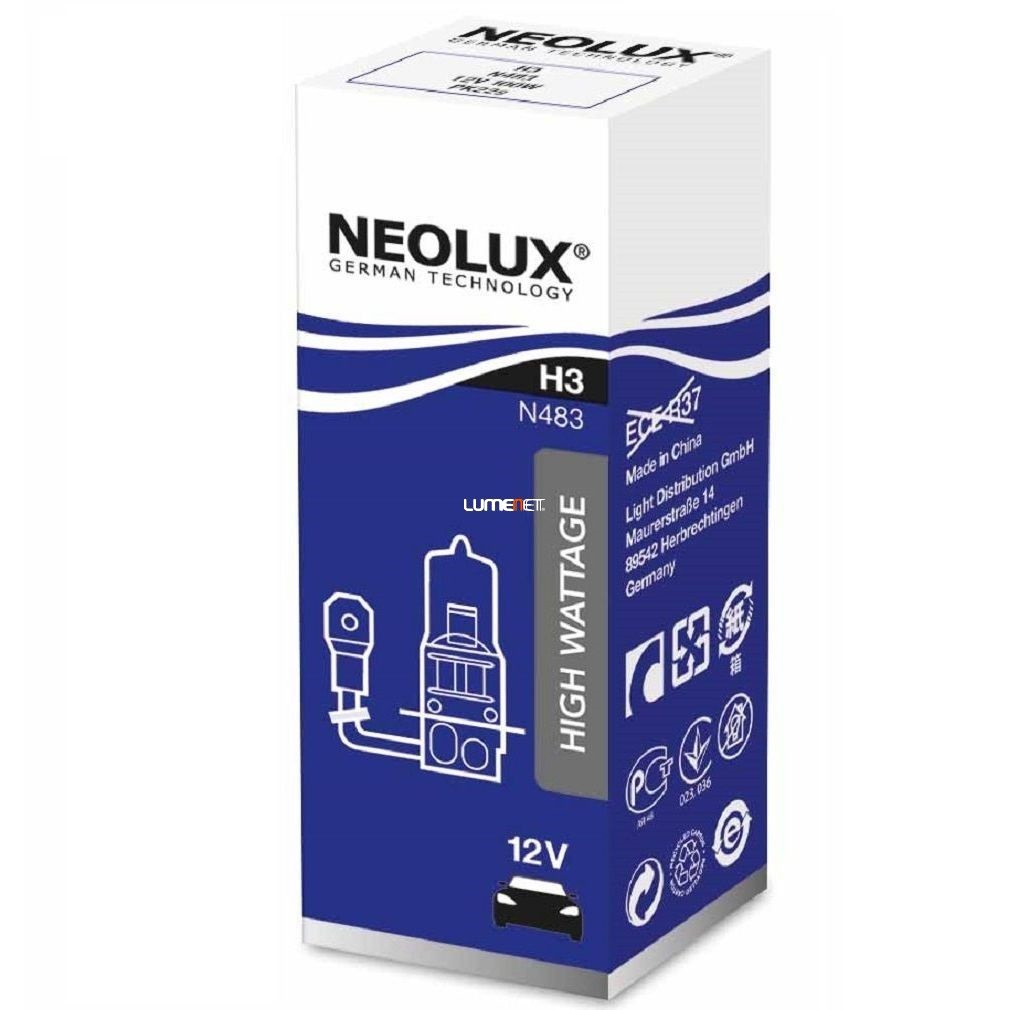Neolux Power Rally N483 H3 offroad izzó 10db/csomag