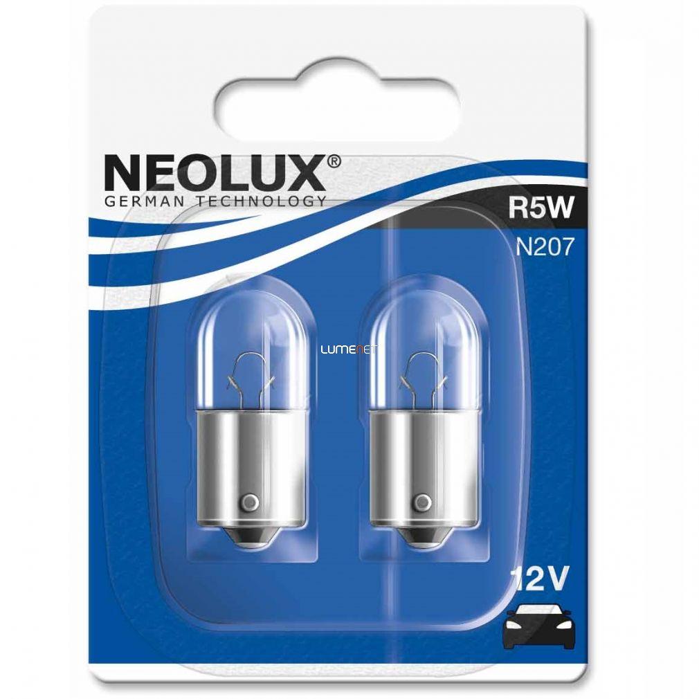 Neolux Standard N207 R5W 12V BA15s jelzőizzó 2db/bliszter