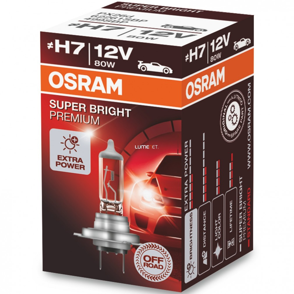 Osram Offroad Super Bright Premium 62261SBP H7 dobozos