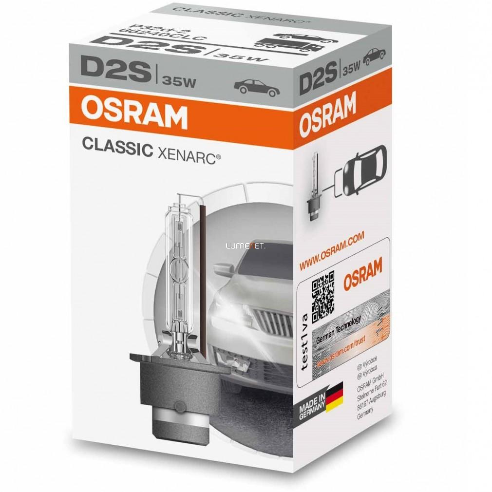 Osram Xenarc Classic 66240 D2S xenon lámpa - 2év garancia
