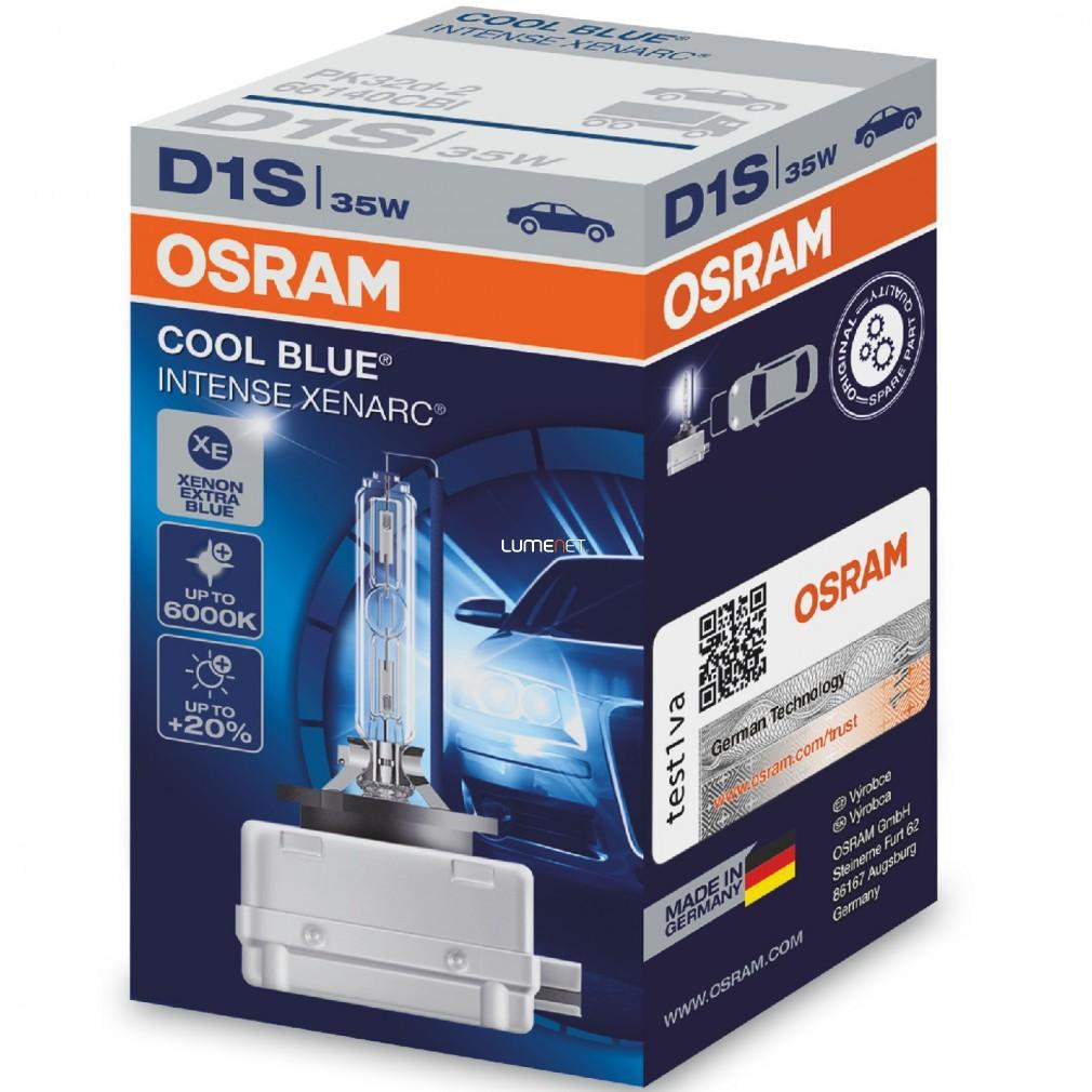 Osram Xenarc Cool Blue Intense 66140CBI D1S xenon lámpa - 1év garancia