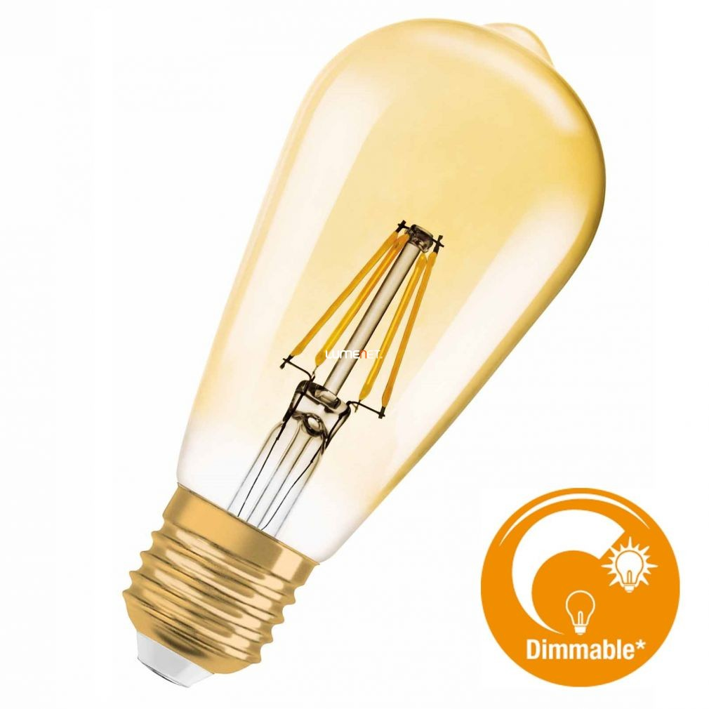 OSRAM Vintage 1906 LED Edison 50 GOLD 7W 2400K E27 filament DIM LED 2016/17