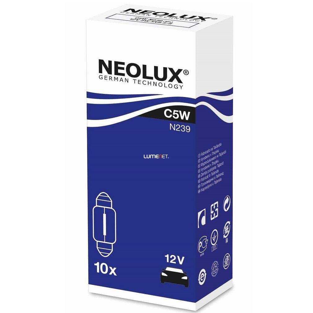 Neolux Standard N239 C5W 12V Szofita izzó 10db/csomag
