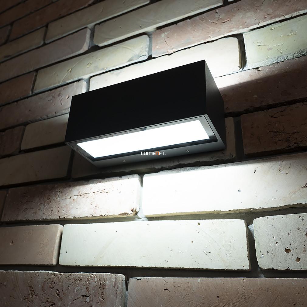 LUTEC 1891M GR GEMINI 20W LED IP54 fali le/fel világító szürke kültéri lámpa