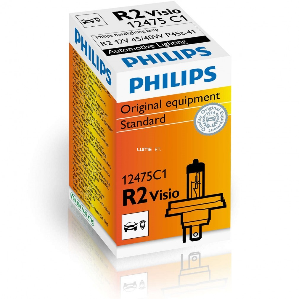 Philips Standard 12475C1 Halogen 45W/40W R2 dobozos