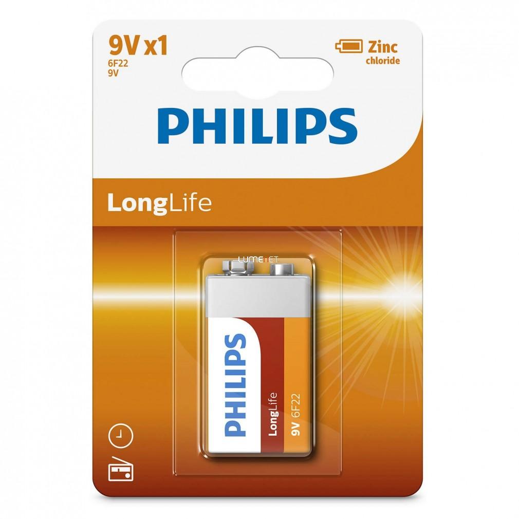 Philips LongLife 6F22-L1B/10 e-block 9V elem
