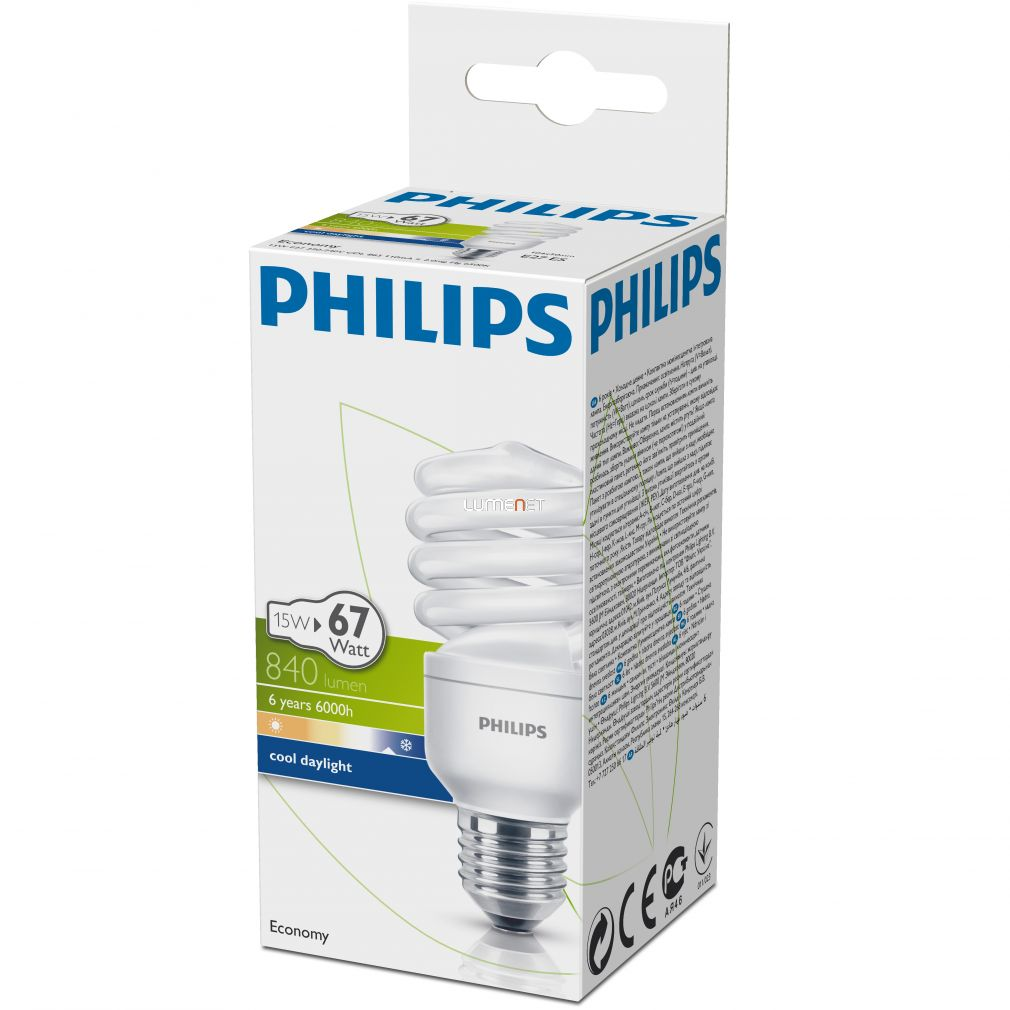 PHILIPS ECONOMY TWISTER 15W/865 E27 6500K
