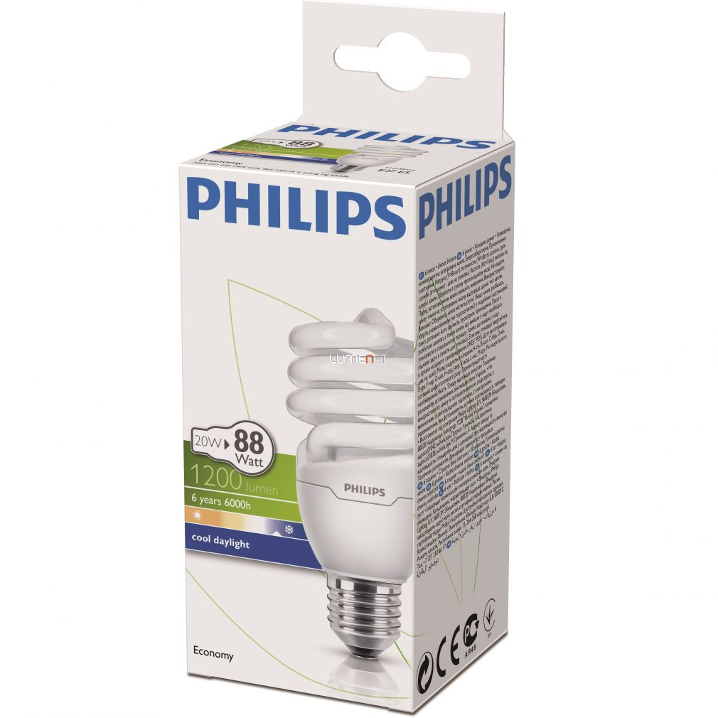 PHILIPS ECONOMY TWISTER 20W/865 E27 6500K