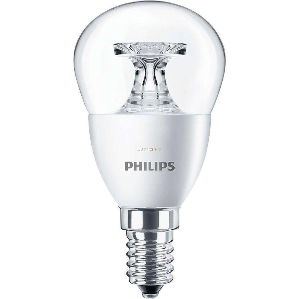PHILIPS Corepro lustre ND 4W E14 827 P45 CL kisgömb LED - 2015/16 széria
