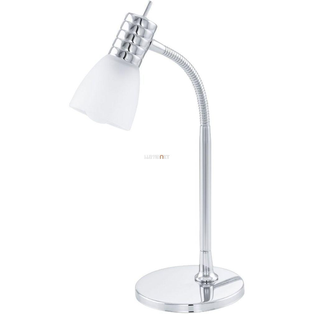EGLO 13577 Asztali lámpa E14 LED 4W króm/fehér üveg Prince3