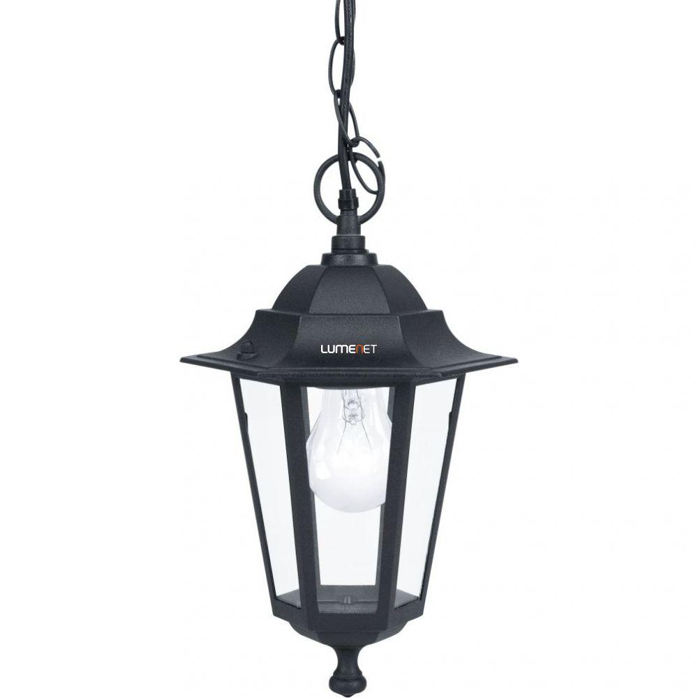 EGLO 22471 Kültéri függeszték 1xE27 max.60W m:90cm d:20,5cm alumínium, fekete, átlátszó üveg IP33 Laterna 4