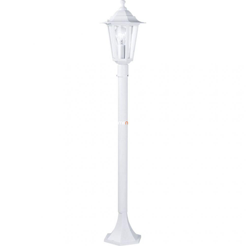 EGLO 22995 Kültéri állólámpa 1xE27 max.60W alumínium öntvény fehér, átlátszó üveg IP33 Laterna 5