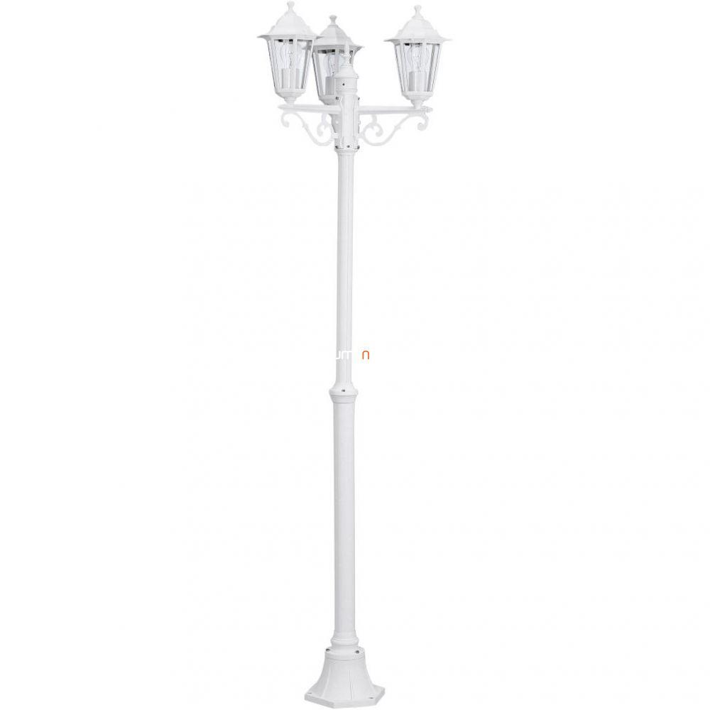 EGLO 22996 Kültéri állólámpa 3xE27 max.60W alumínium öntvény fehér, átlátszó üveg IP33 Laterna 5