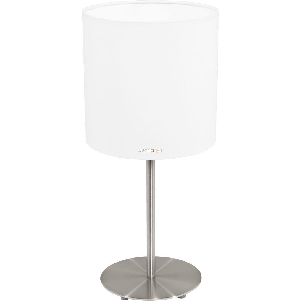 Eglo 31594 Pasteri fehér textil asztali lámpa 1xE27 foglalattal