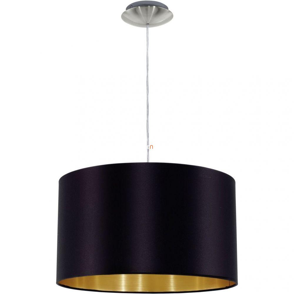 Eglo 31599 Maserlo fekete-arany textil függeszték foglalattal  ø38cm