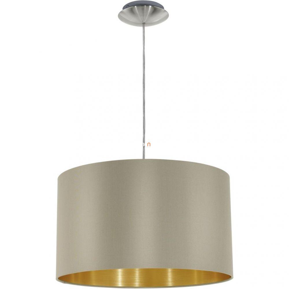Eglo 31602 Maserlo tóp-arany textil függeszték 1xE27 foglalattal   ø38cm