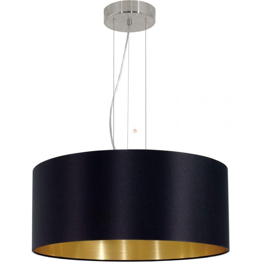Eglo 31605 Maserlo fekete-arany textil függeszték 3xE27 foglalattal   ø53cm