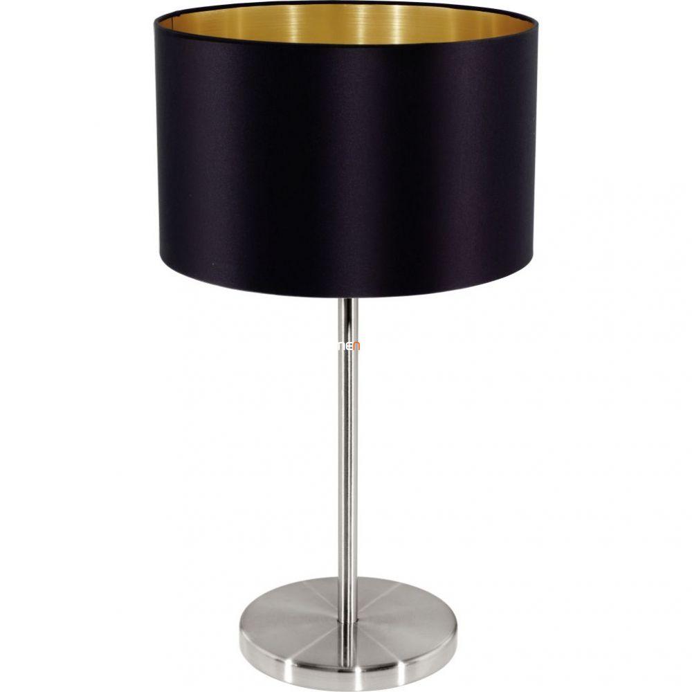 Eglo 31627 Maserlo fekete-arany textil asztali lámpa 1xE27 foglalattal