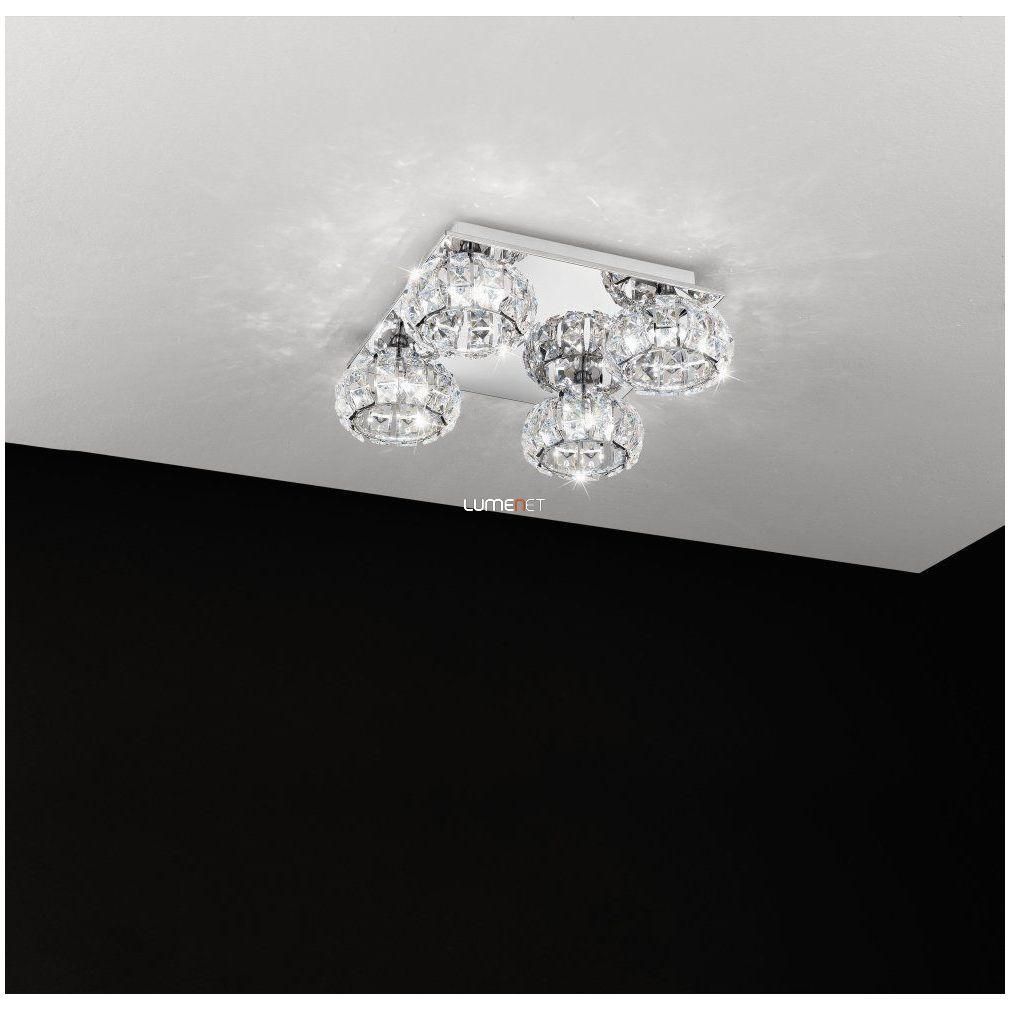 Eglo 39009 Corliano mennyezeti kristály LED lámpa 4x5W 40x40cm