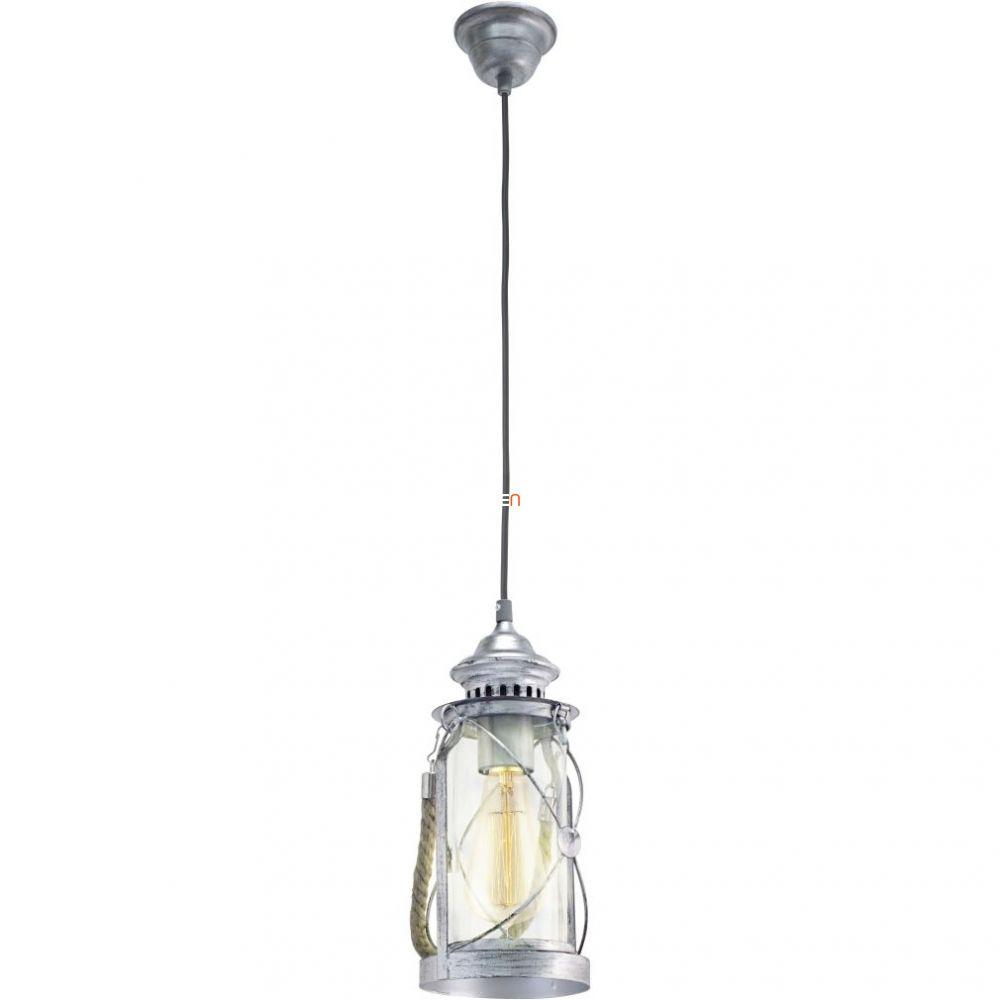 EGLO 49214 Függeszték 1xE27 max. 60W antik ezüst/üveg Bradford