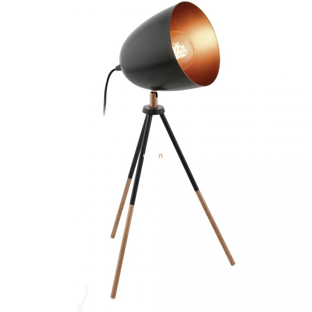 EGLO 49385 asztali lámpa 1xE27 max. 60W 44cm fekete/réz Chester