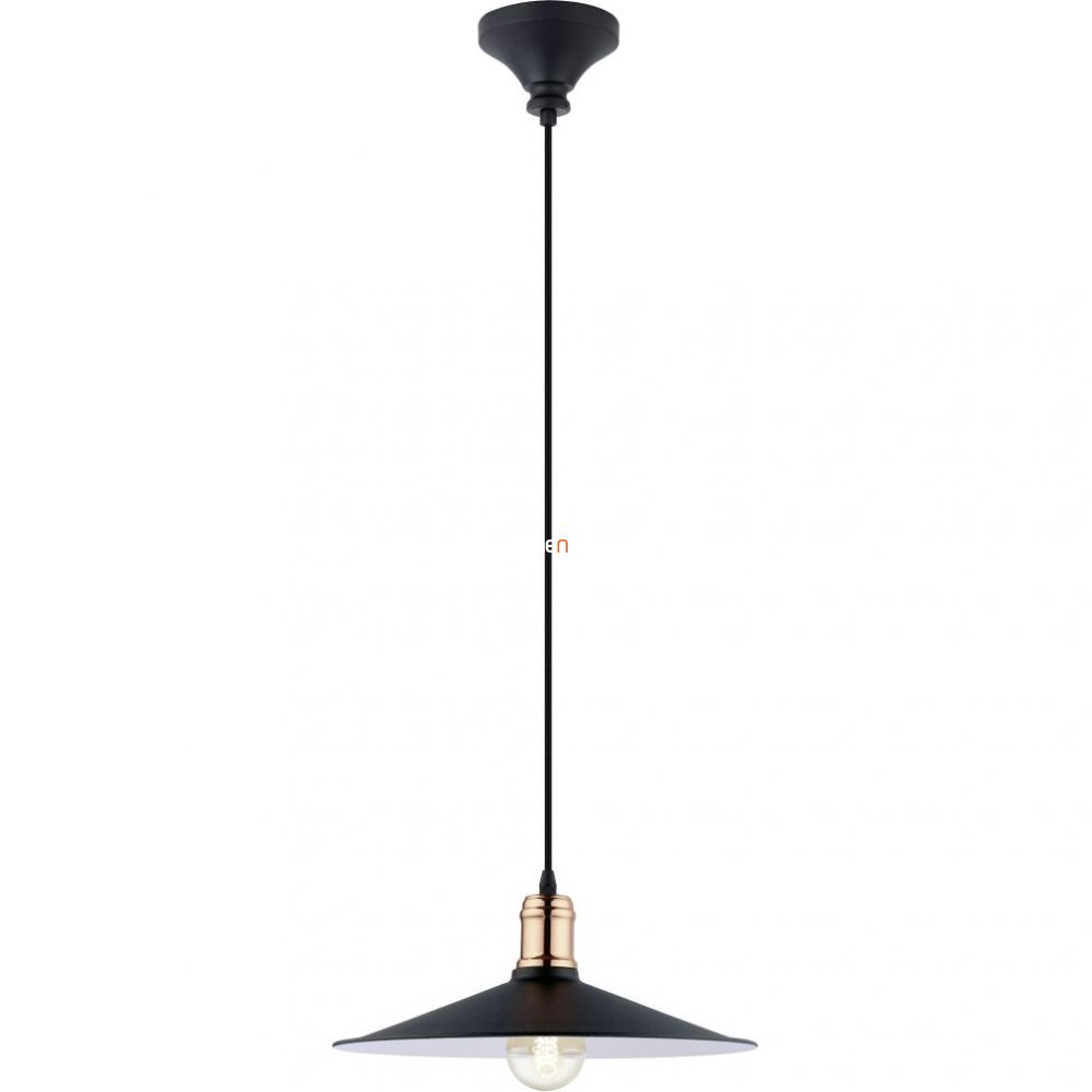 EGLO 49452 függeszték E27 60W 36cm fekete/réz Bridport