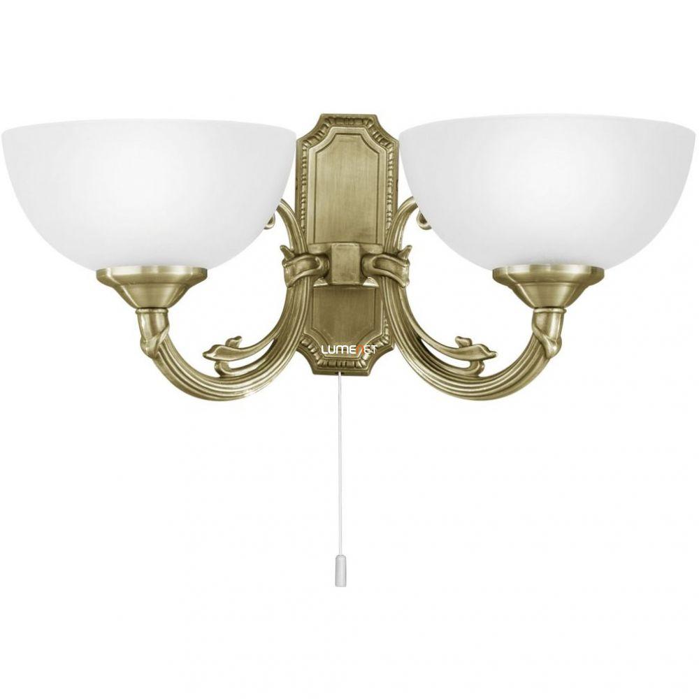 EGLO 82752 Fali lámpa 2x40W E14 húzókapcsolós bronz Savoy