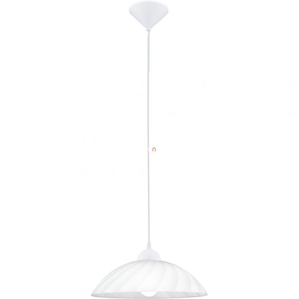 EGLO 82785 Függeszték E27 1x60W 35cm fehér csíkos bura Vetro
