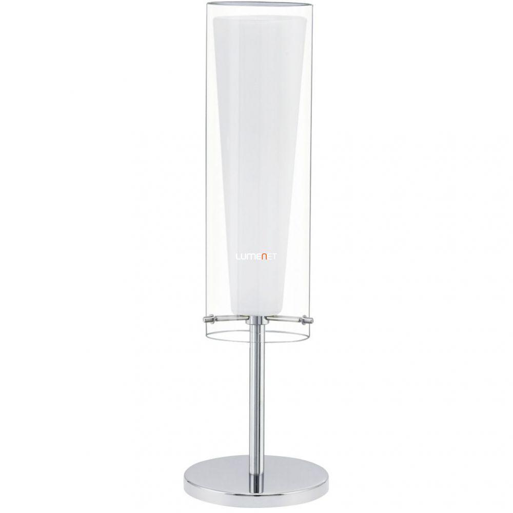 EGLO 89835 Asztali lámpa E27 1x60W króm/fehér Pinto