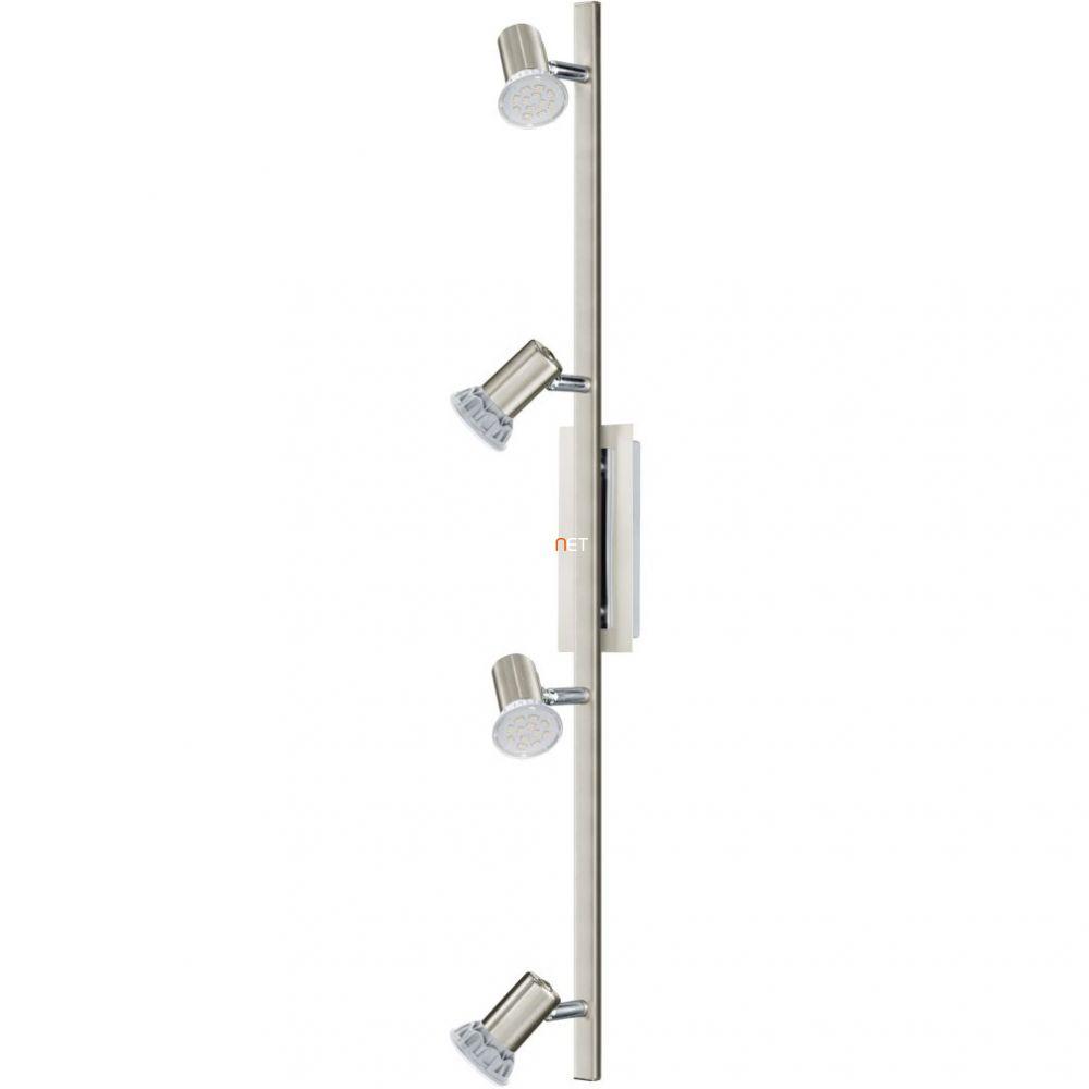 EGLO 90917 Fali/mennyezeti GU10 LED 4x3W nikkel/króm Rottelo