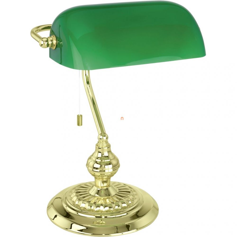 EGLO 90967 Asztali lámpa 1xE27 max. 60W d:39cm réz/zöld bura Banker