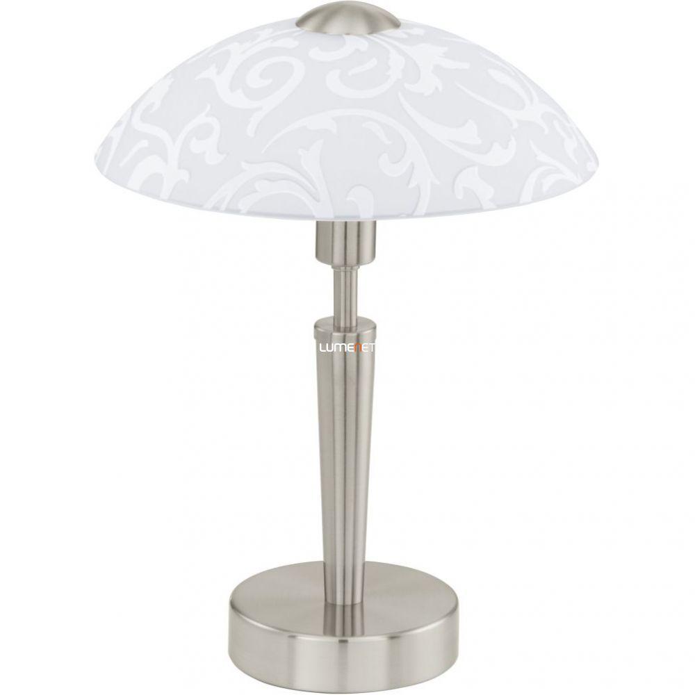 EGLO 91238 Asztali lámpa E14 1x60W matt nikkel/dekor üveg Solo