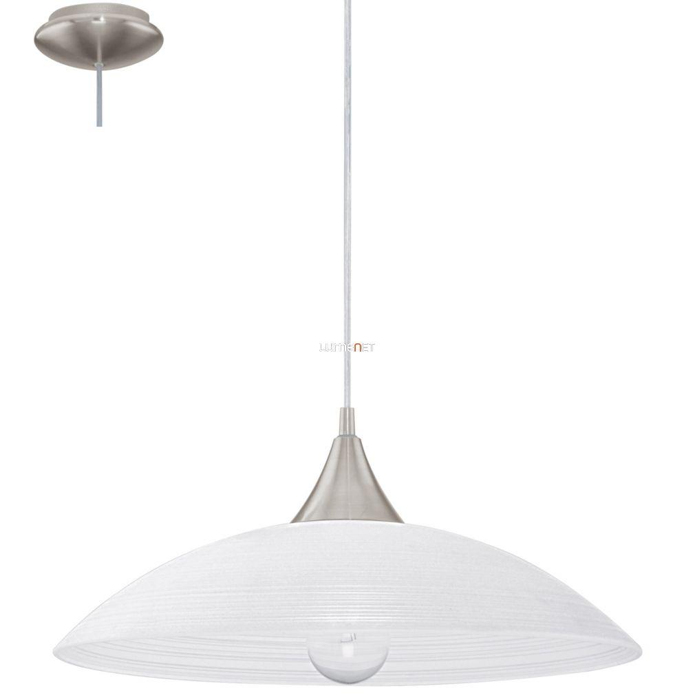 EGLO 91496 Függeszték E27 1x60W matt nikkel/fehér Lazolo