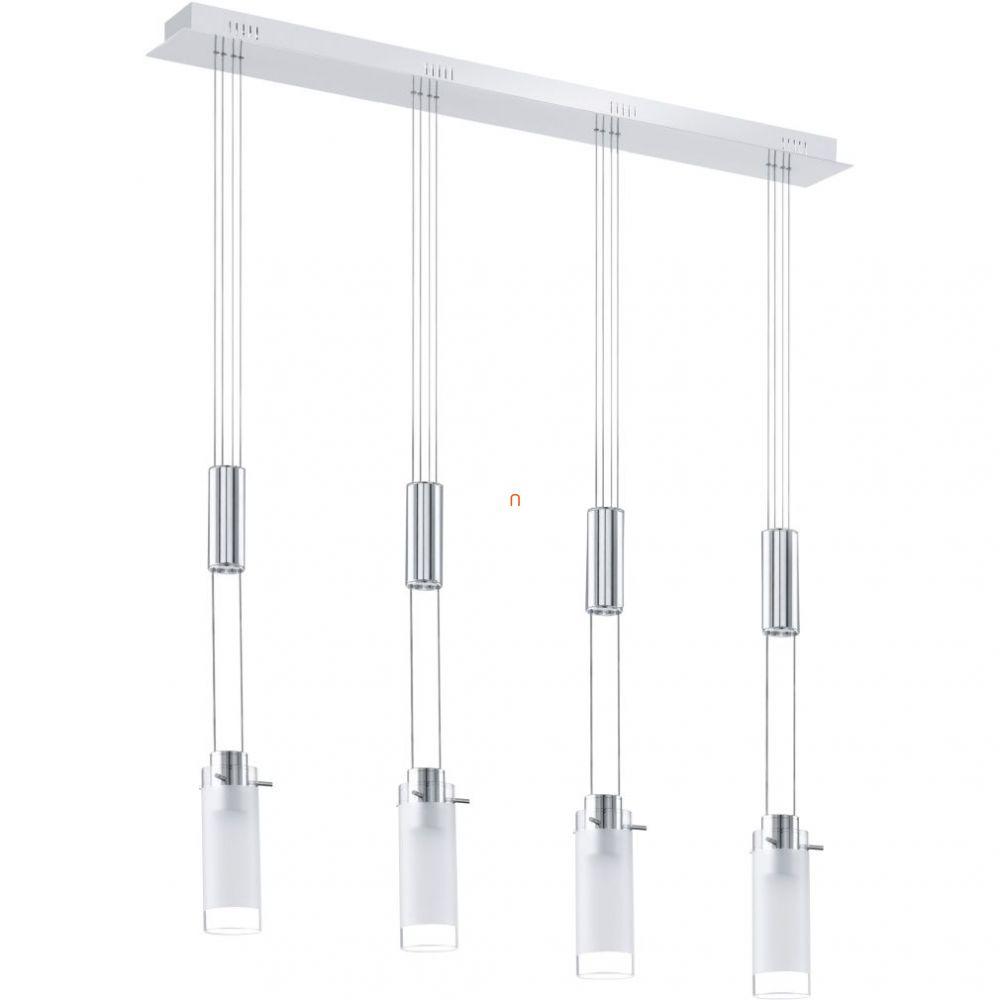 EGLO 91546 LED-es függeszték 4x6W króm/szat.üveg Aggius